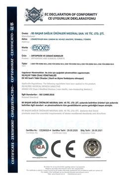 Ortopedik ve Cerrahi Korseler CE